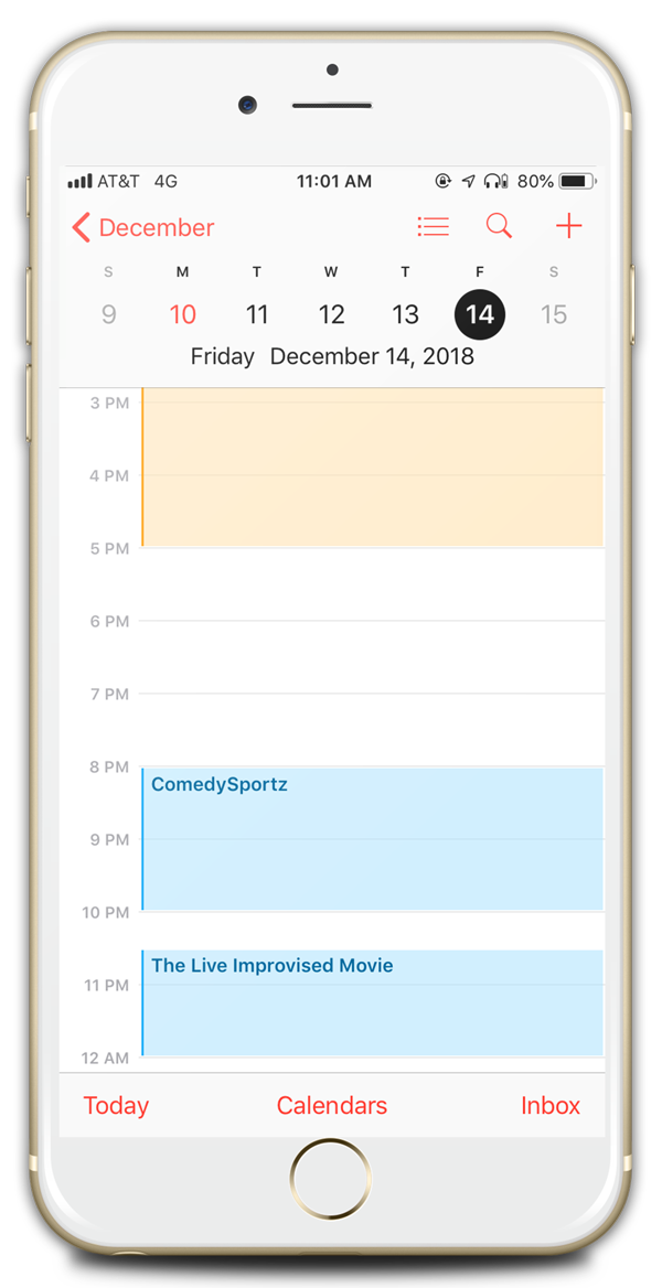 Calendar on iPhone